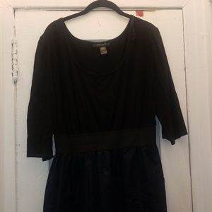 Black and denim dress